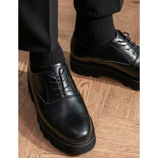 STYLEMAN - Round-Toe Lace-Up Loafers