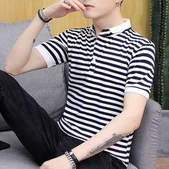 COOLIN - 短袖条纹马球衫