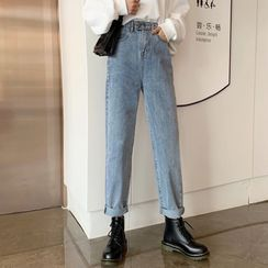 Jolly Club - Washed Straight-Cut Jeans