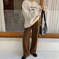 FROMBEGINNING(フロムビギニング) - Drawcord-Waist Knit Pants