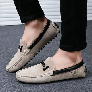 MARTUCCI - 真皮饰缝线乐福鞋
