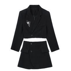 JIN STUDIOS - Set: Cropped Blazer + Spaghetti Strap Dress