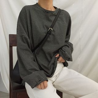 IndiGirl - Long Sleeve Striped T-Shirt