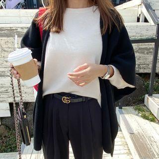 DANI LOVE - Open-Front Wool Blend Shawl Vest