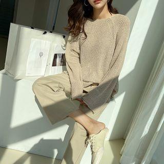 NANING9 - Boatneck Lightweight Sweater