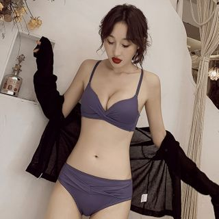 HYG Lingerie - Set: Shirred Bra + Panties