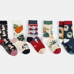 QUICKSOOX - Set of 5: Patterned Socks