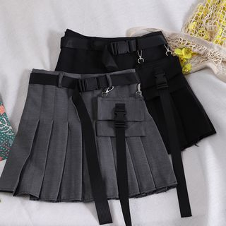 Pinatra - Cargo Pleated Mini Skirt