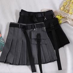 Pinatra - Cargo Pleated Mini Skirt