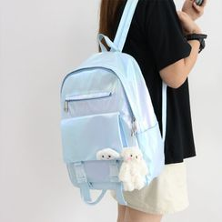 Little Days - Plain Faux Leather Backpack