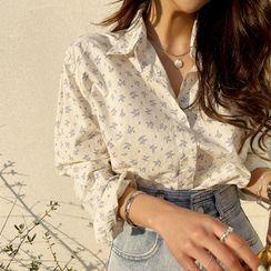 NANING9 - Botanical Pattern Shirt