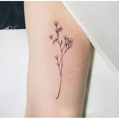 METZ(メッツ) - Flower Waterproof Temporary Tattoo
