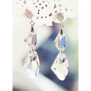 kitsch island - Swarovski Drop Earrings