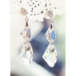 kitsch island - Swarovski Drop Earrings