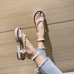 Eloise - Platform Ankle-Strap Flip-Flops