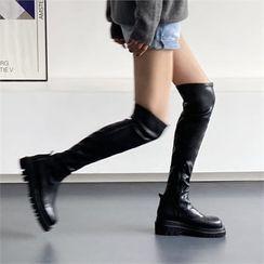 MONOBARBI - Platform-Heel Long Boots