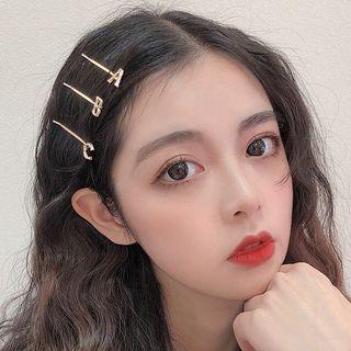 Miss Floral - Alloy  Alphabet Hair Pin