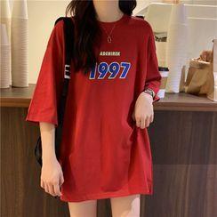 Dreamkura - Lettering Short-Sleeve T-Shirt