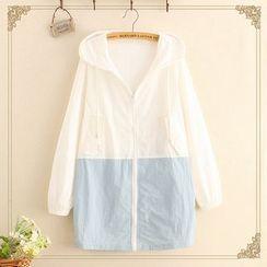 Kawaii Fairyland - Color Block Hooded Zip Jacket