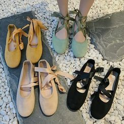 SouthBay Shoes - Lace Up Flats