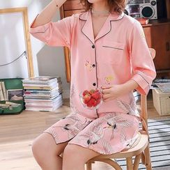 Voomer(ヴーマー) - Printed Sleep Shirt Dress