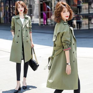 malabar - Double Breasted Sashed Trench Coat