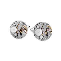 BELEC - Fashion Punk Mechanical Movement Geometric Round Cufflinks