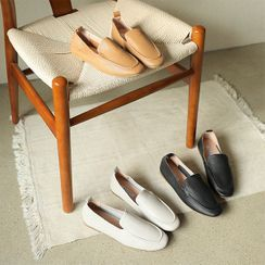 BBAEBBAE - Stitched Faux-Leather Loafers