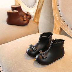 Creayu - Kids Bow Short Boots