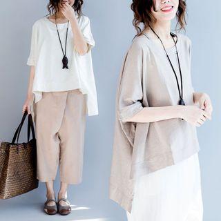 RAIN DEER - Short-Sleeve High-Low T-Shirt