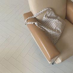 CHERRYKOKO - Polka-Dot Cotton Shopper Bag