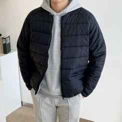Seoul Homme - Raglan-Sleeve Zip-Up Padded Jacket