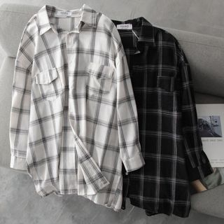 Hanji - 宽松格子衬衫