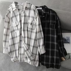 Hanji - Oversized Plaid Shirt