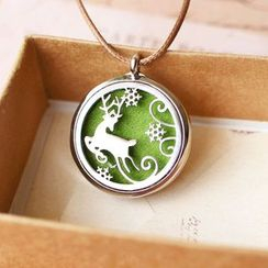 Nisen - Deer Aromatherapy Locket Necklace