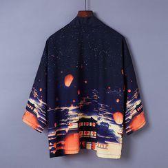 Esquerada - 风景印花日式外套