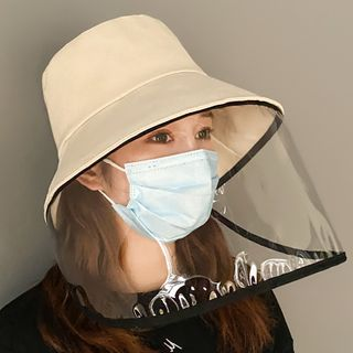 Kalamate - Plain Bucket Hat with Protection Face Shield