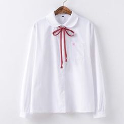 Candy House - Flower Embroidered Shirt