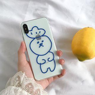 Arancia - Cartoon Print Phone Case - iPhone 6 / 6S / 6S Plus / 7 / 7 Plus / 8 / 8 Plus / X / XS / XR / XS Max / 11 / 11 Pro / 11 Pro Max