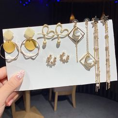 Gold Beam - 仿珍珠耳环 (多款设计)