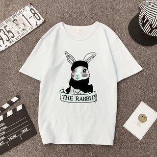 Carmenta - 小兔印花短袖T裇