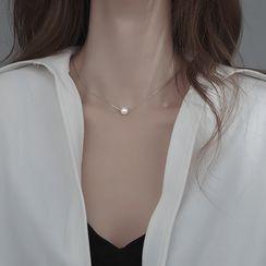 SWART - 仿珍珠吊墜純銀項鏈