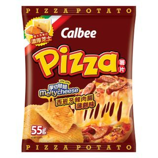 Calbee - Chorizo Pizza Flavored Potato Chips 55g