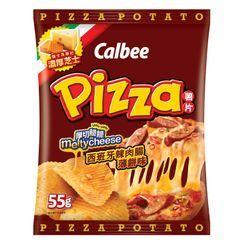 Calbee - Chorizo Pizza Flavored Potato Chips 55g