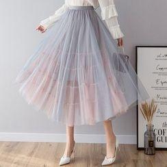 Lewwe - Tulle Midi Skirt