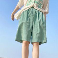 Malnia Home - Couple Matching Wide Leg Shorts