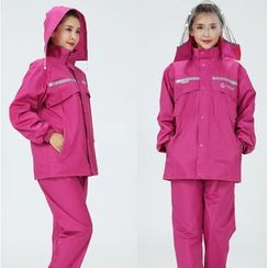 Rainfreem - Set: Hooded Rain Coat + Pants