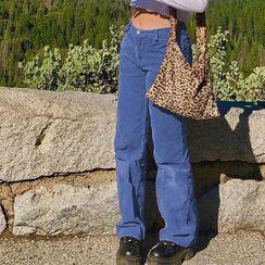 BrickBlack - 灯芯绒靴型裤