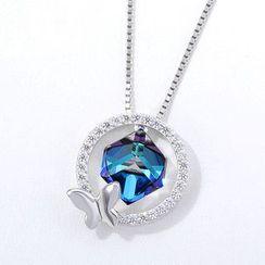 Muscovite - 施华洛世奇元素水晶水钻蝴蝶项链