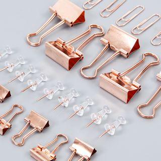 Setaria - Set: Metal Binder Clip + Push Pin